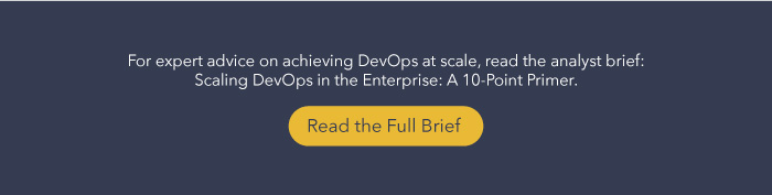 DevOps at Scale Analyst Brief