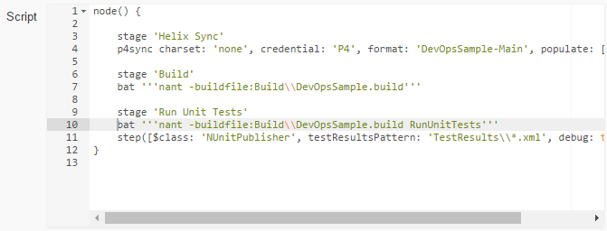 Executing unit tests in Jenkins_pipeline script