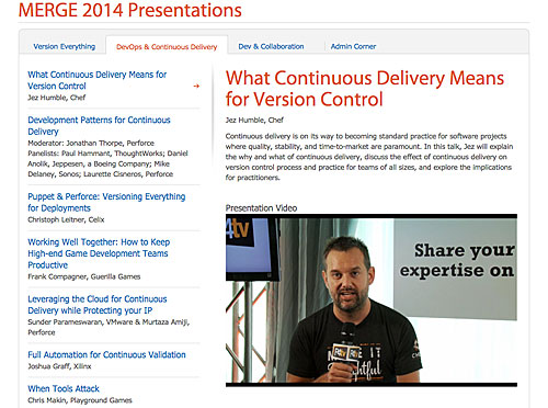 Perforce MERGE 2014 videos