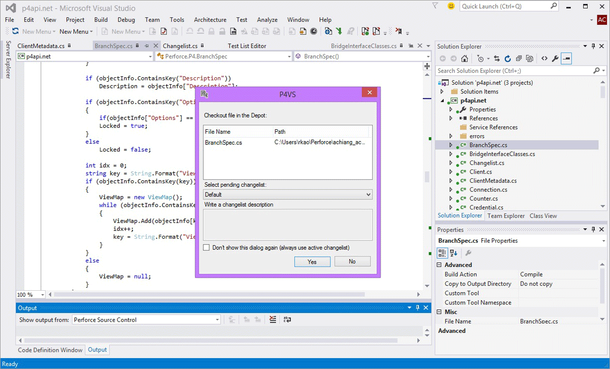 Helix Plugin for Visual Studio screenshot