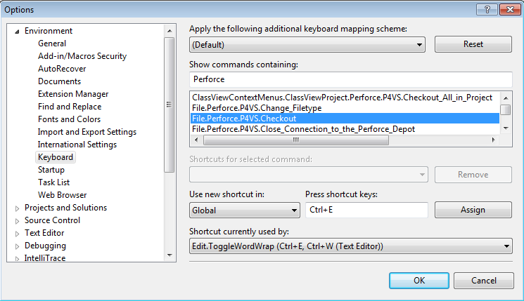 How To Create Perforce Shortcut Keys in Visual Studio | Perforce